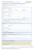 BKK Linde Fragebogen zur Eröffnung eines Beitragskontos Download
