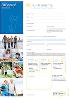 Anmeldung FitBonus+ Download