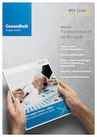 Titelbild für das Kundenmagazin Gesundheit 02/2021 der BKK Gesundheit zeigt den Transparenzbericht der BKK Linde.